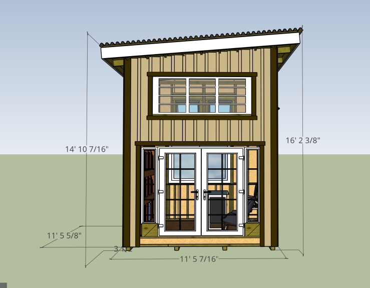 office plan with loft